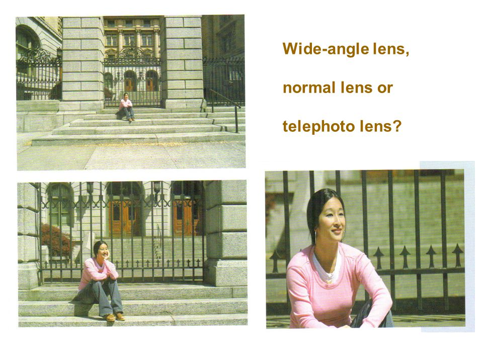 Wide-angle lens, normal lens or telephoto lens?
