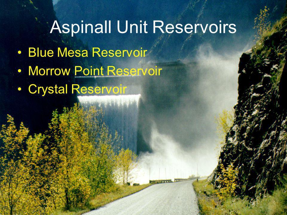 Aspinall Unit Reservoirs Blue Mesa Reservoir Morrow Point Reservoir Crystal Reservoir
