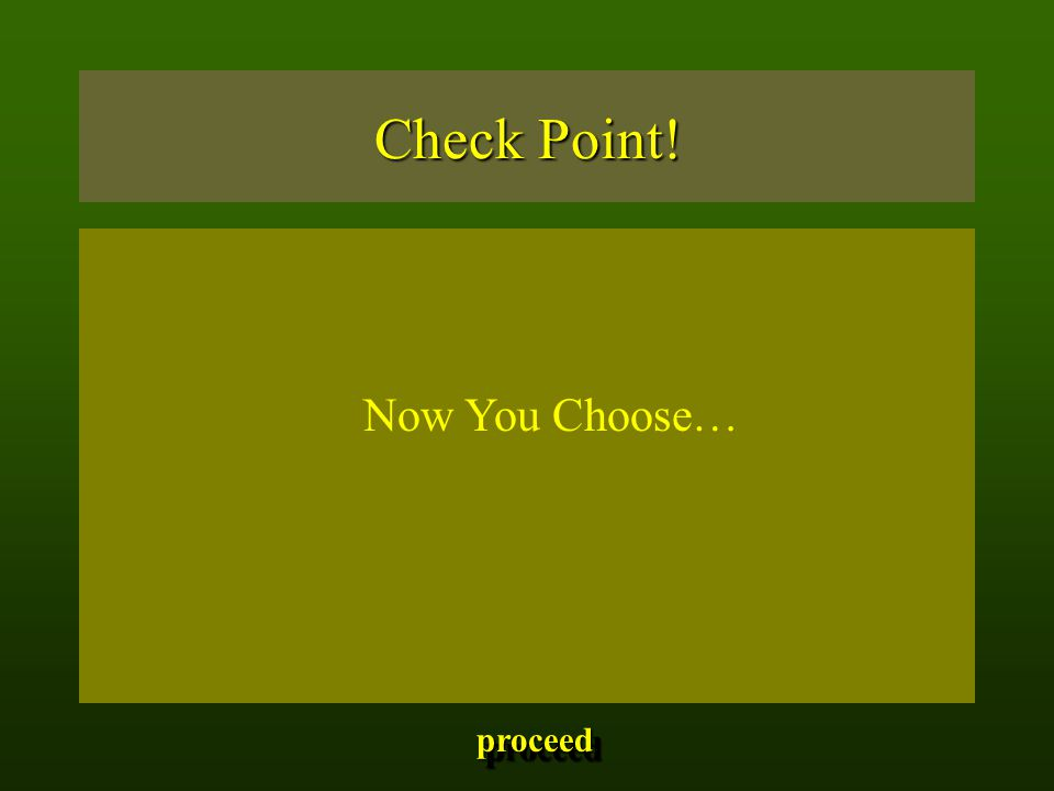 Check Point! Now You Choose… proceed