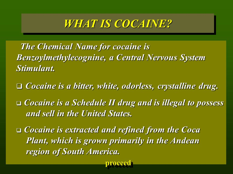 WHAT IS COCAINE.