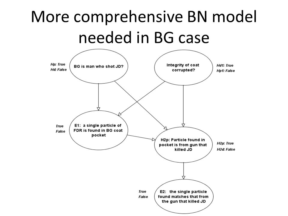More comprehensive BN model needed in BG case