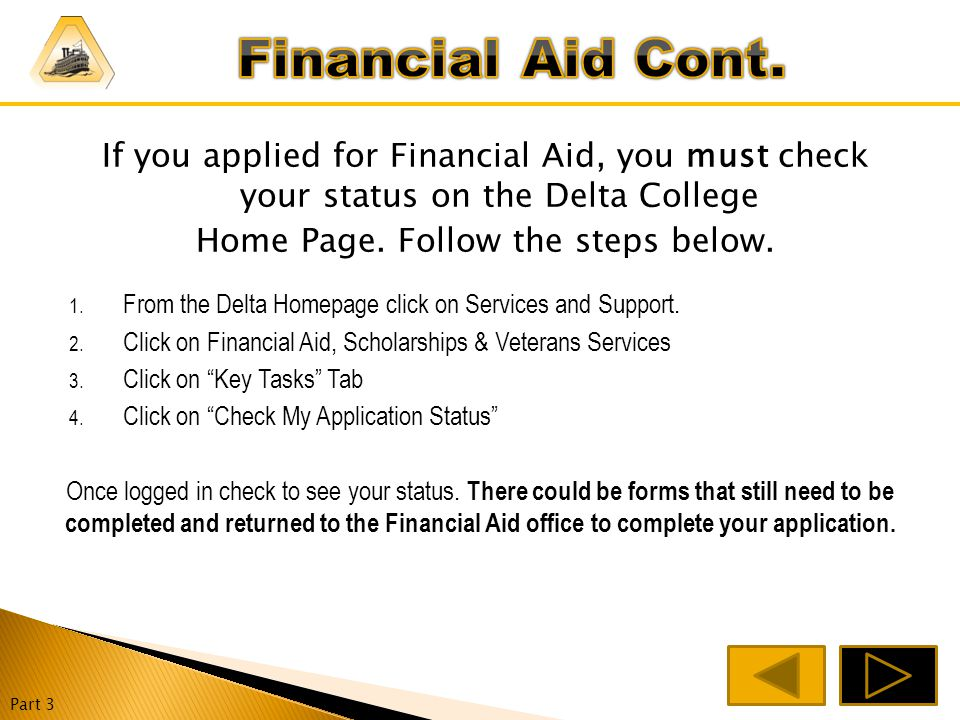 Financial Aid – Free Money for College that you don't have to pay back.