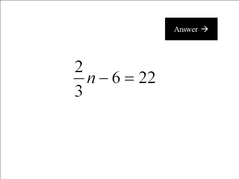 What is x = 15? C 100 Return to Questions