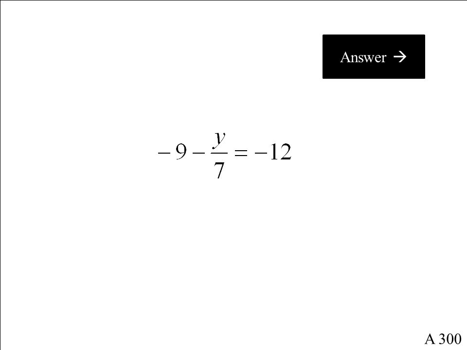 What is g = -1 ? A 200 Return to Questions