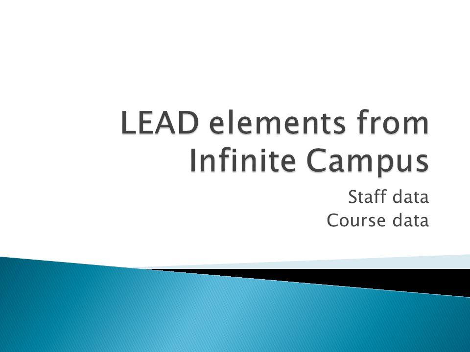 Staff data Course data