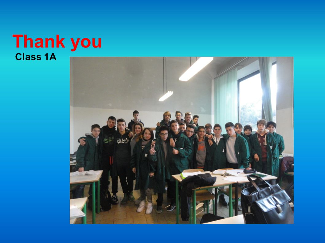 Thank you Class 1A