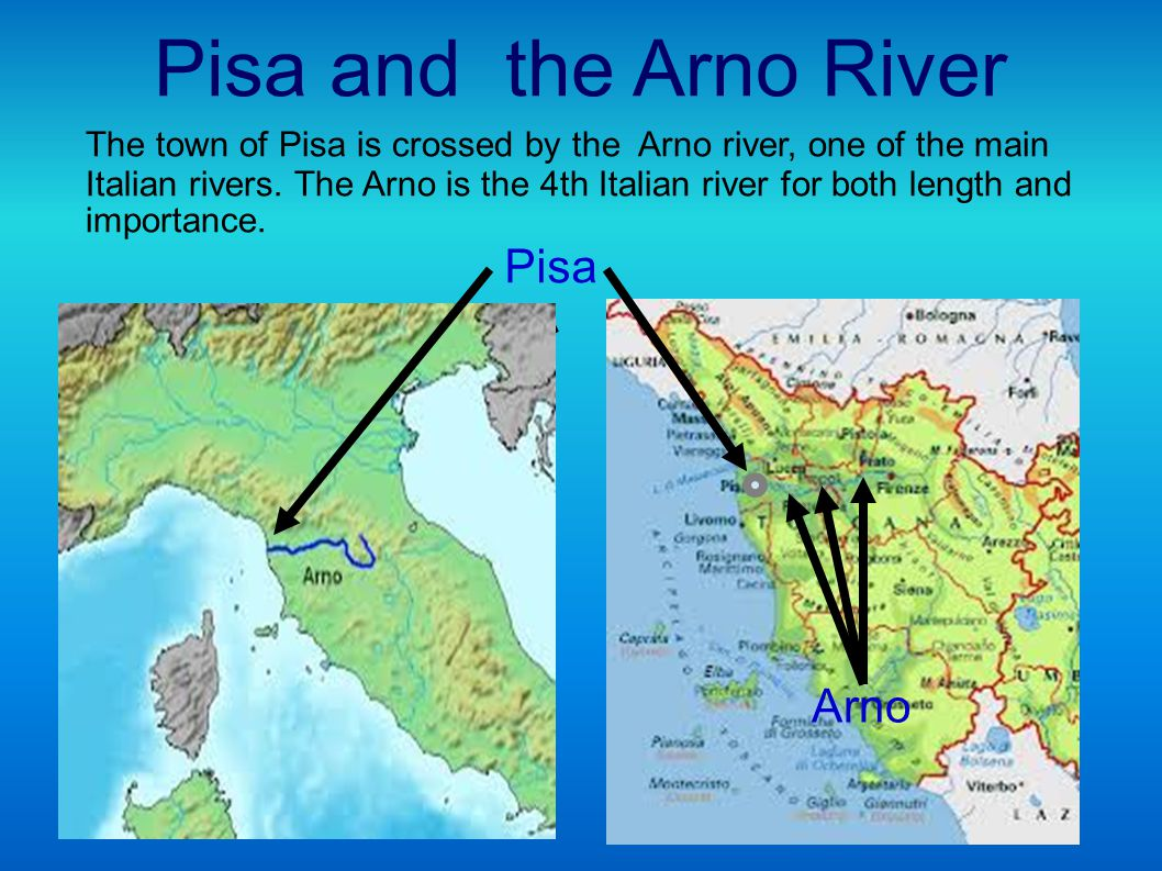 The river Arno divides the city in two parts called Tramontana (north) and Mezzogiorno (south).