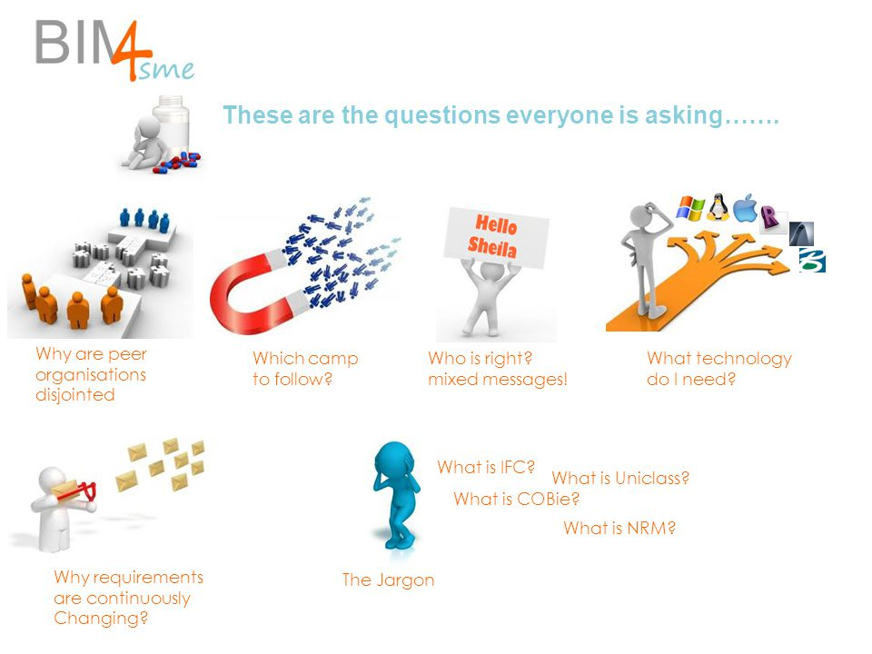 These are the questions everyone is asking……. Which camp to follow? What technology do I need? Why are peer organisations disjointed Who is right? mix