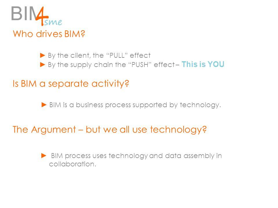 Who drives BIM.