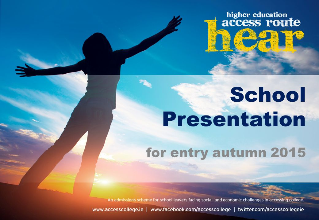 School Presentation for entry autumn 2015
