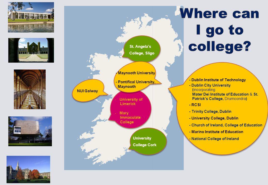 - Dublin Institute of Technology - Dublin City University (incorporating Mater Dei Institute of Education & St.