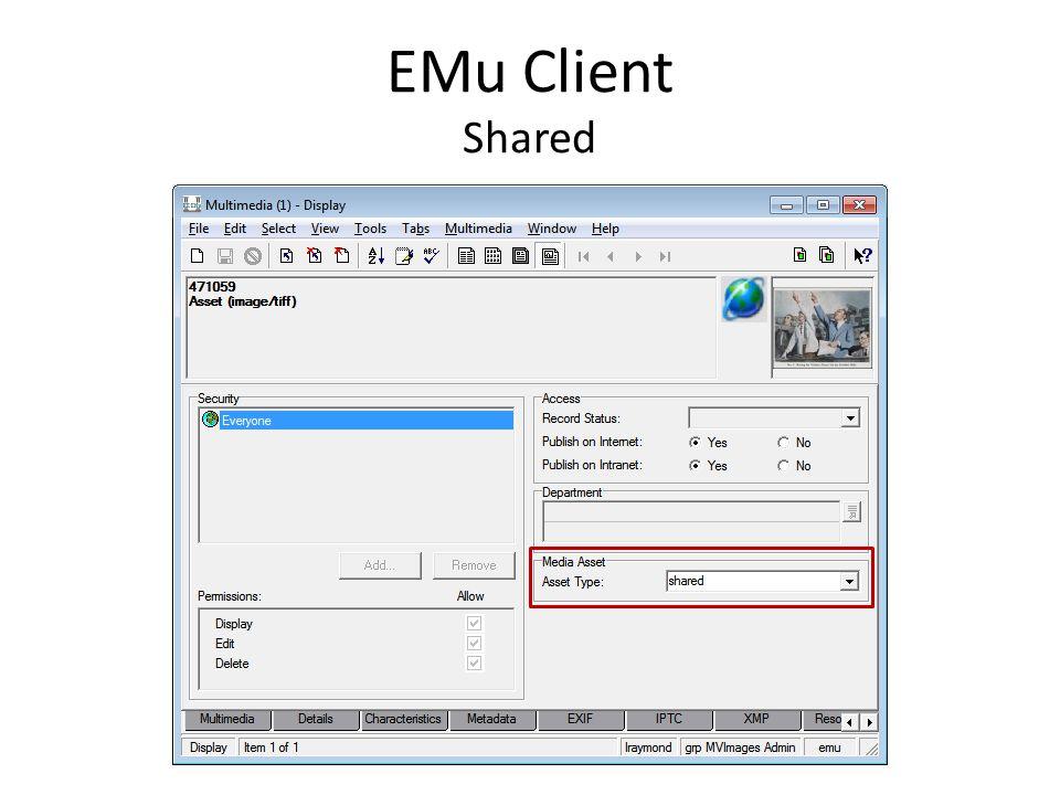 MV Images EMu MMR IRNs DAMS Client Shared