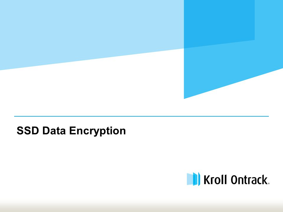 SSD Data Encryption