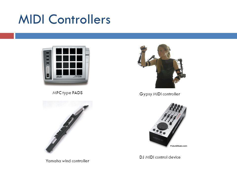 MIDI Controllers MPC type PADS Gypsy MIDI controller Yamaha wind controller DJ MIDI control device
