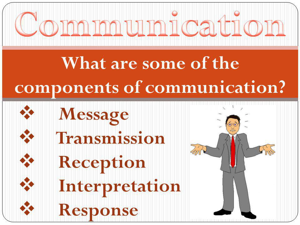 What are some of the components of communication.