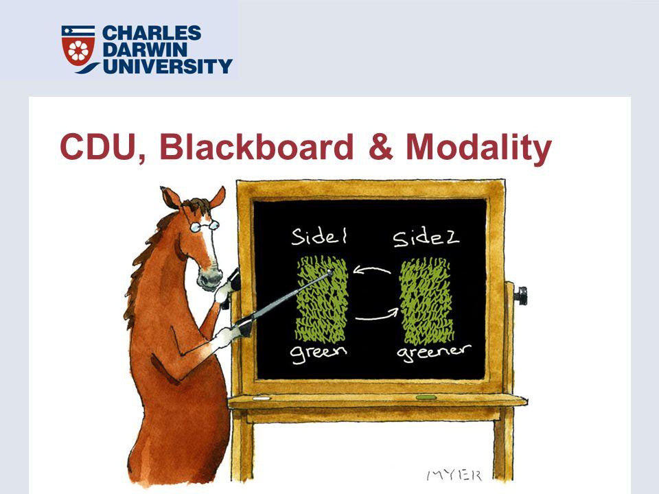 CDU, Blackboard & Modality