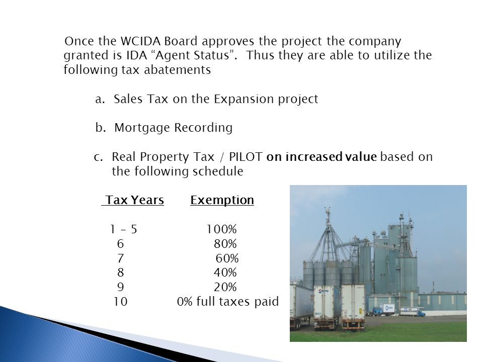 THE PROCESS 1.Company completes an IDA Sale/Leaseback Application.