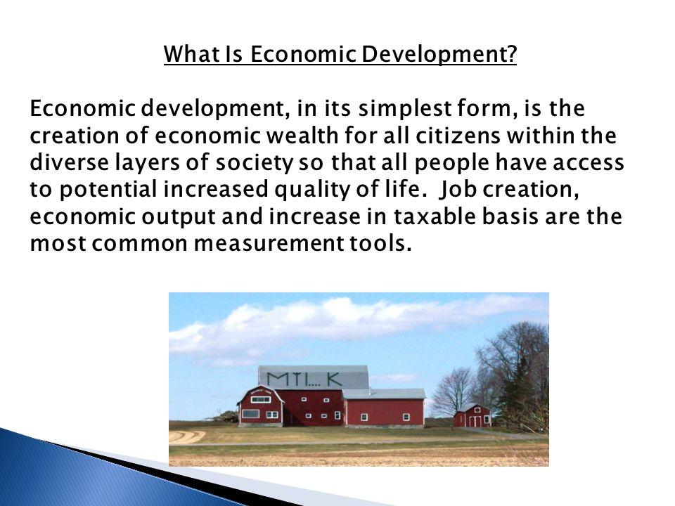 What Is Economic Development.