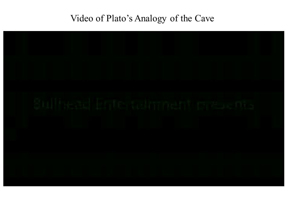 Video of Plato's Analogy of the Cave