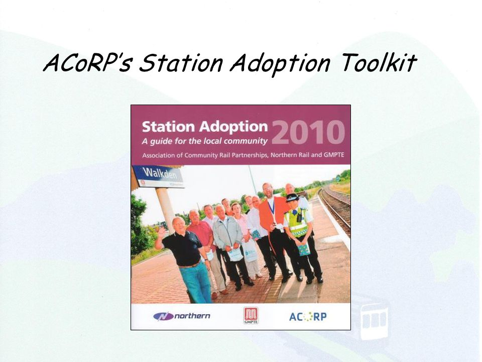 ACoRP's Station Adoption Toolkit