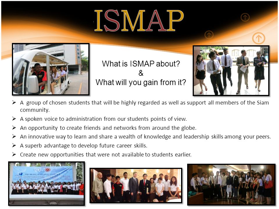  A group of chosen students that will be highly regarded as well as support all members of the Siam community.