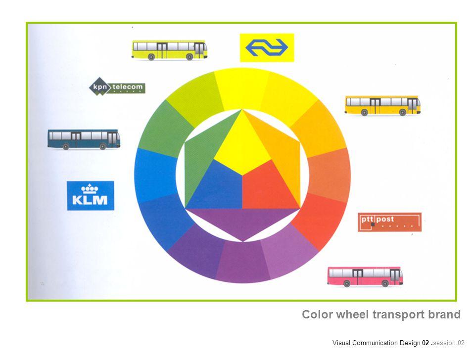 Color wheel transport brand Visual Communication Design 02.session.02