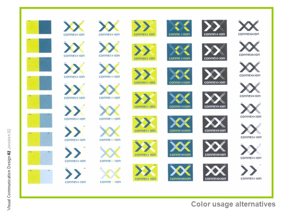 Color usage alternatives Visual Communication Design 02.session.02