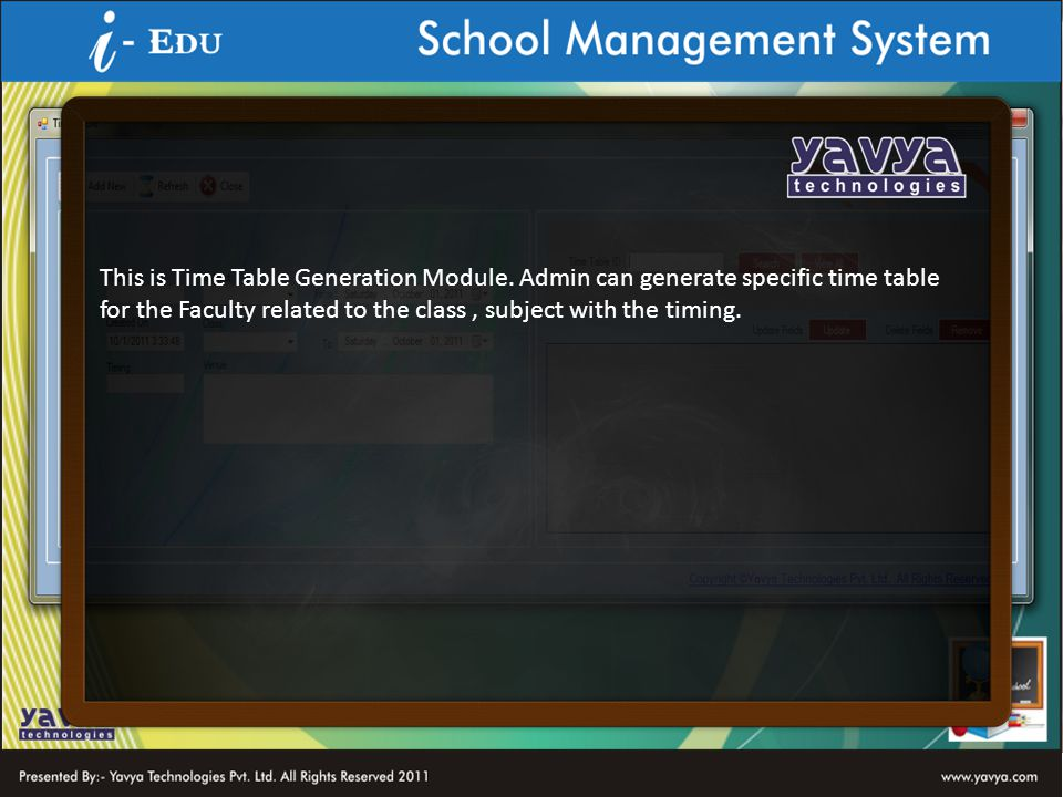 This is Time Table Generation Module.