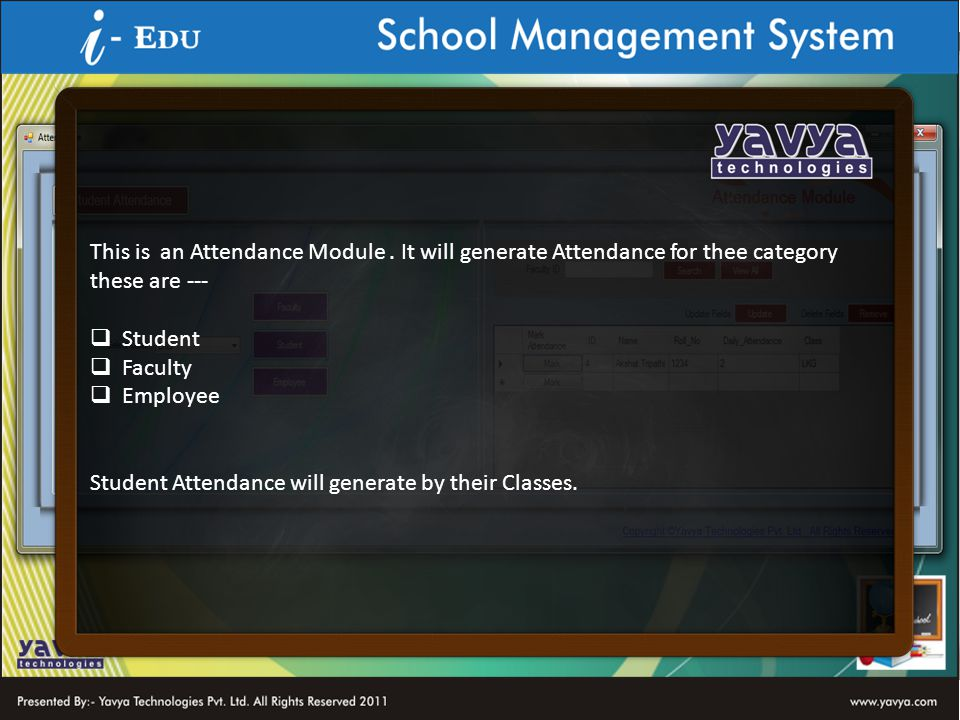 This is an Attendance Module.