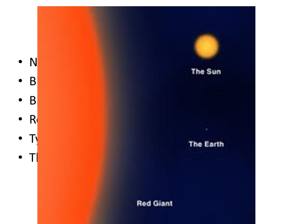 Answer 10 What is the future for our sun? Nothing, it will last forever Black Hole Black dwarf Red Giant Type II supernova The sun is not a star
