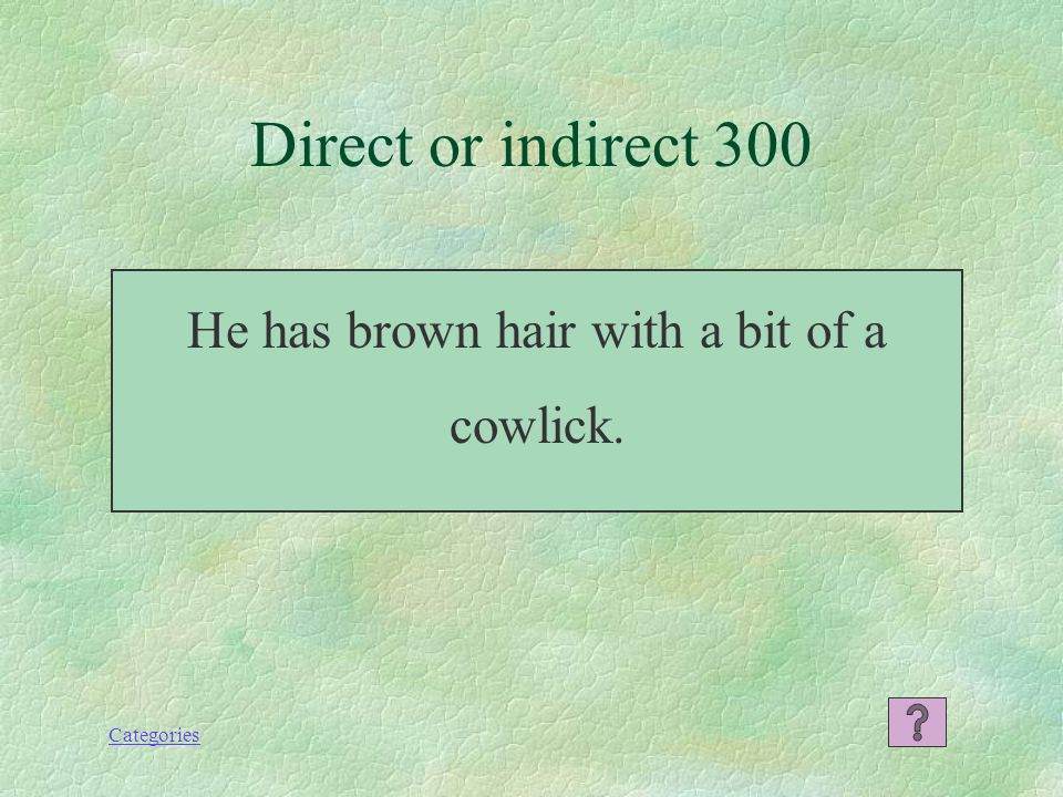 Categories What is indirect Indirect or direct 200