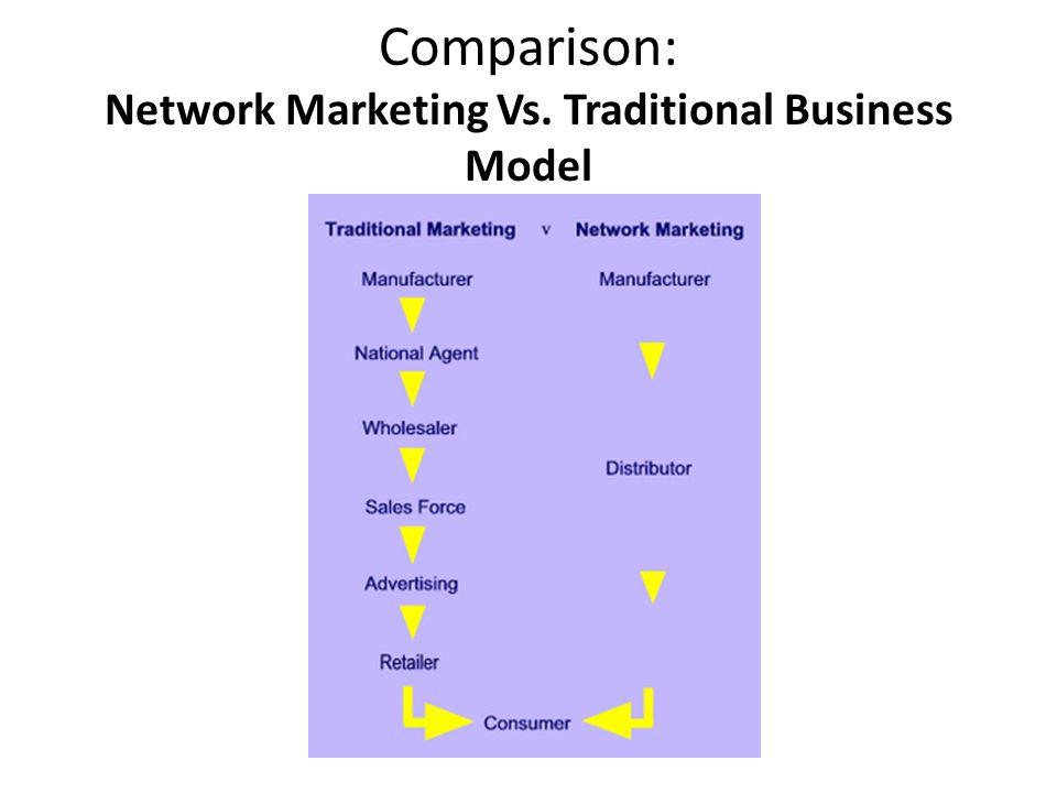 Comparison: Network Marketing Vs. Traditional Business Model