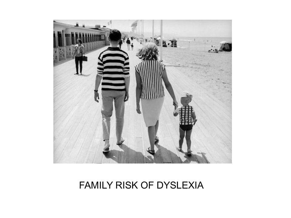 FAMILY RISK OF DYSLEXIA