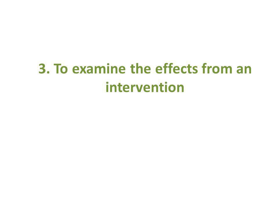 3. To examine the effects from an intervention