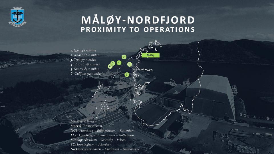 MÅLØY-NORDFJORD PROXIMITY TO OPERATIONS