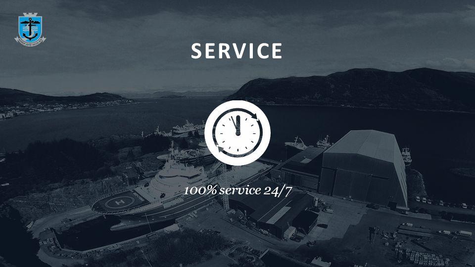 SERVICE 100% service 24/7