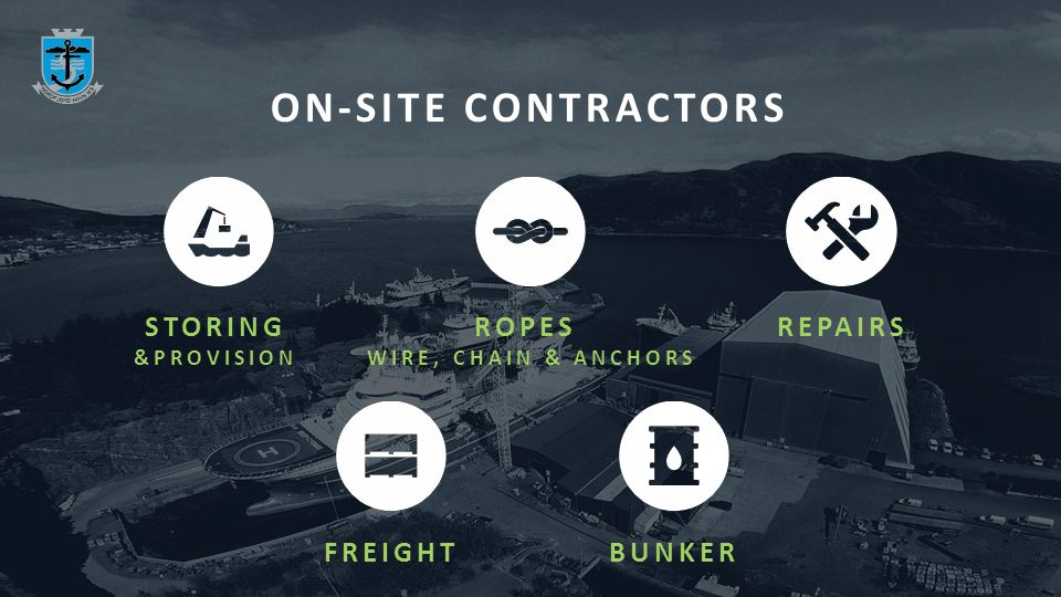 ON-SITE CONTRACTORS STORING &PROVISION ROPES WIRE, CHAIN & ANCHORS REPAIRSFREIGHTBUNKER