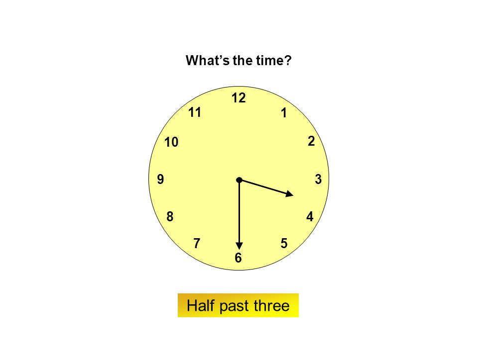 9 6 12 3 7 8 2 1 5 4 10 11 ? What's the time? Twenty-five to four