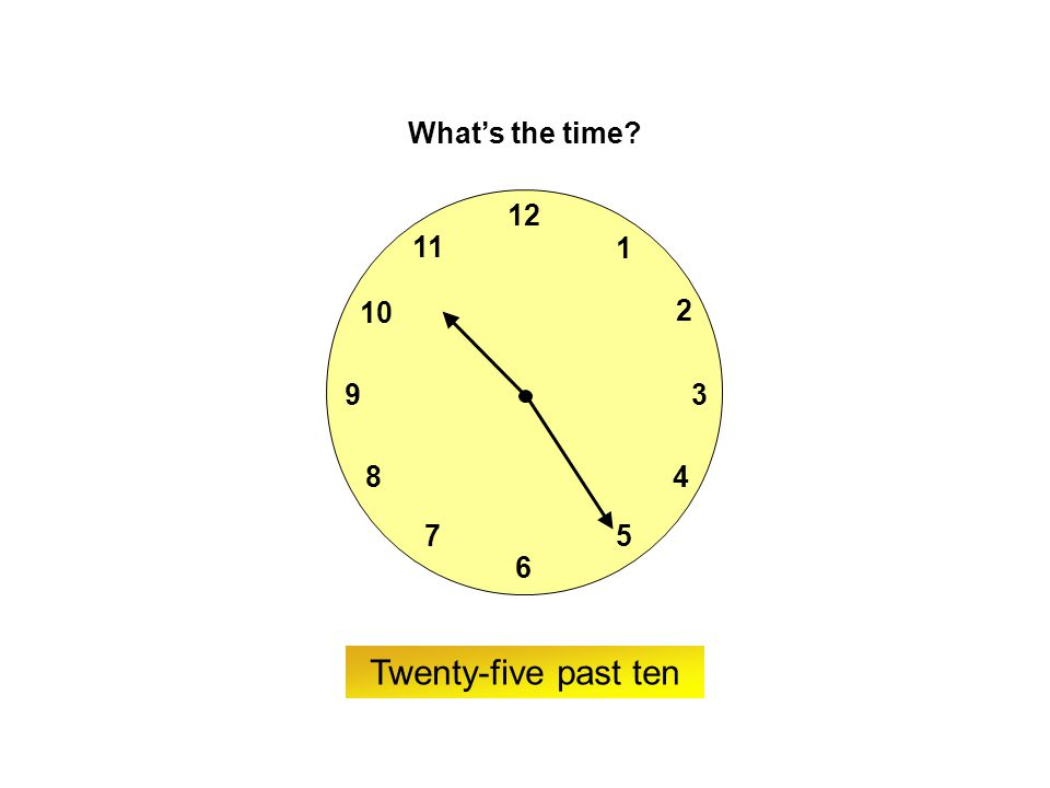 9 6 12 3 7 8 2 1 5 4 10 11 ? What's the time? Twenty to four