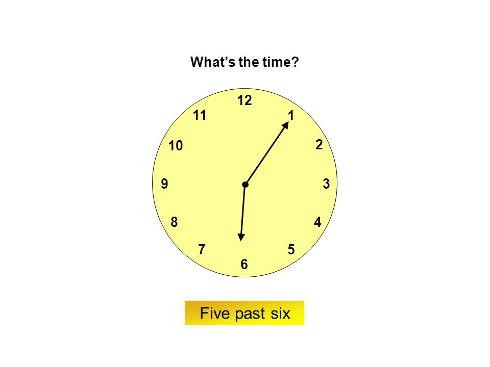 9 6 12 3 7 8 2 1 5 4 10 11 ? What's the time? Twenty-five to two