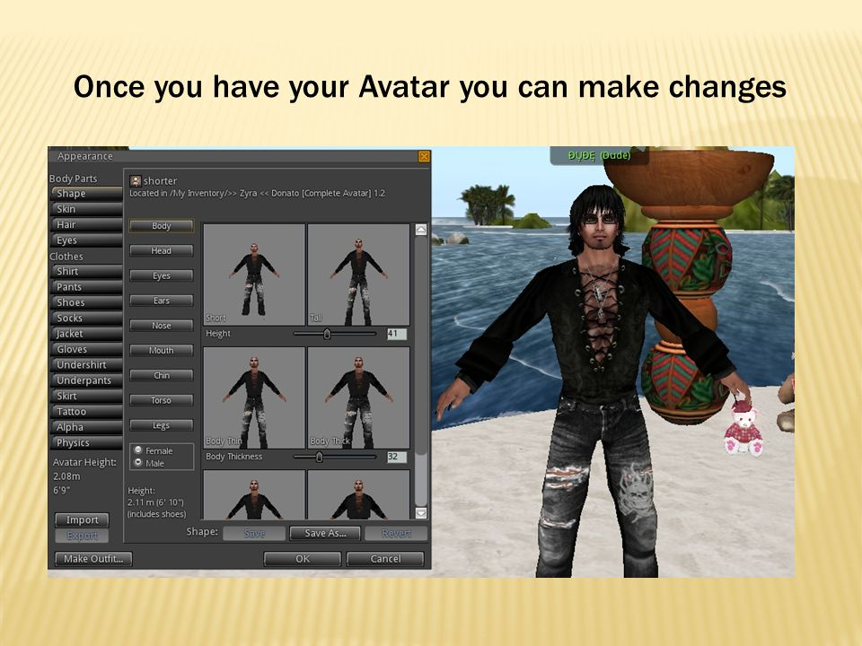 Once you have your Avatar you can make changes