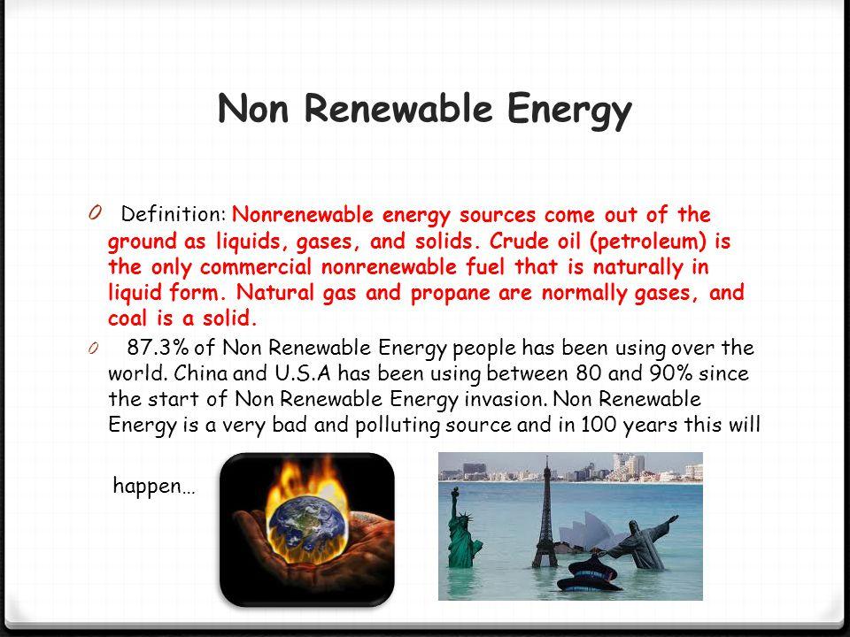 Non Renewable Energy Renewable Energy