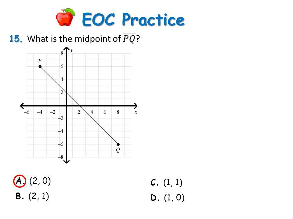 EOC Practice. A. (2, 0) B. (2, 1) C. (1, 1) D. (1, 0)