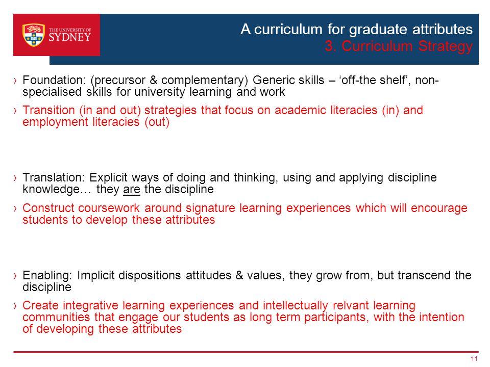 A curriculum for graduate attributes 3.