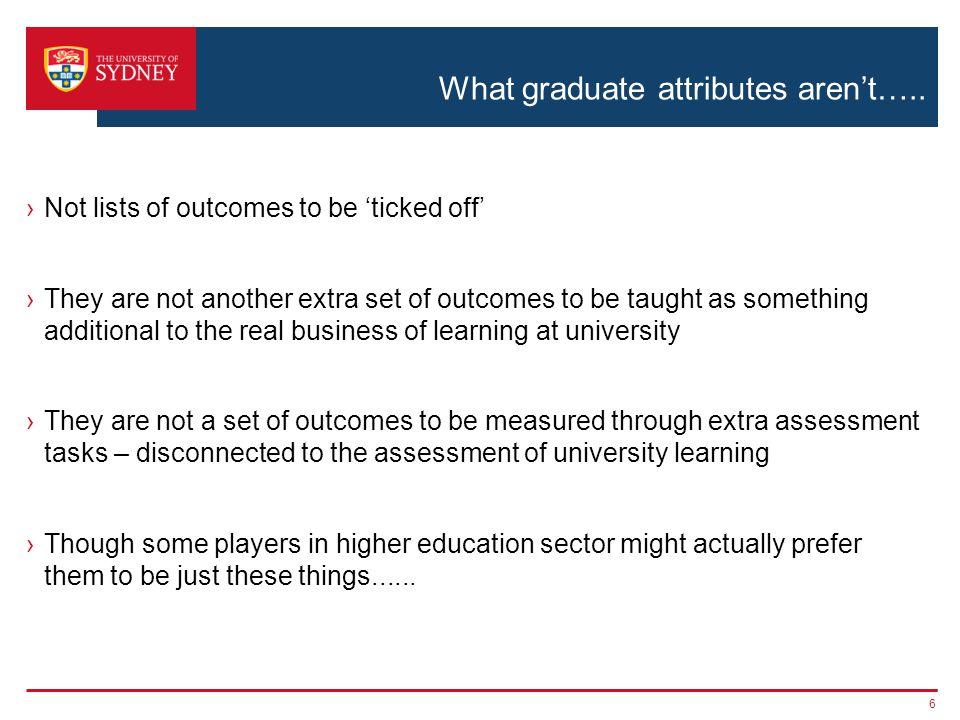 What graduate attributes aren't…..