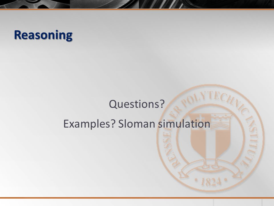Reasoning Questions Examples Sloman simulation