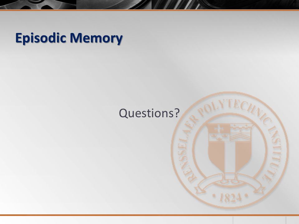 Episodic Memory Questions