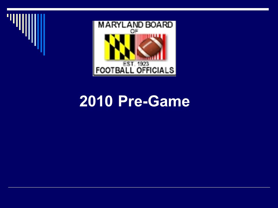 Prior to The Coin Toss --- Lines meet with chain crew --- LJ/BJ Inspect the field, coordinate with timer --- Referee/Umpire meet with coaches - Legally equipped - Unusual plays - Approve footballs - Designate TO Coach - Points of emphasis: Restricted area; 3 minute warm-up; 25 second clock
