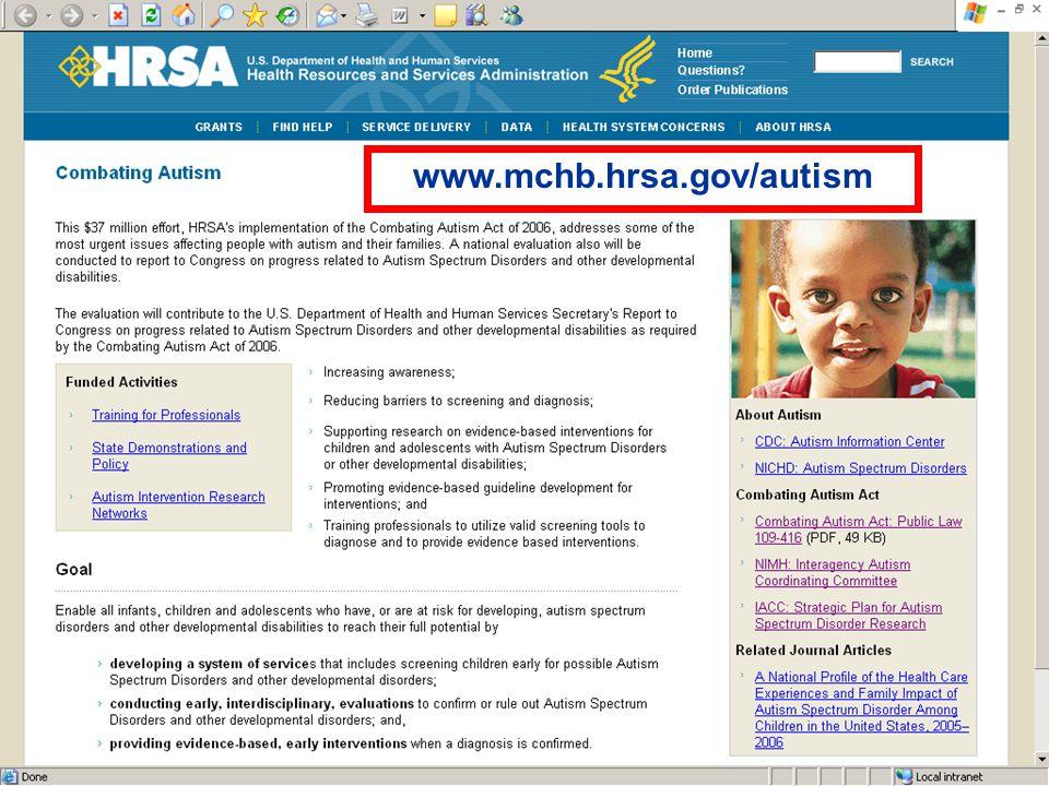 www.mchb.hrsa.gov/autism