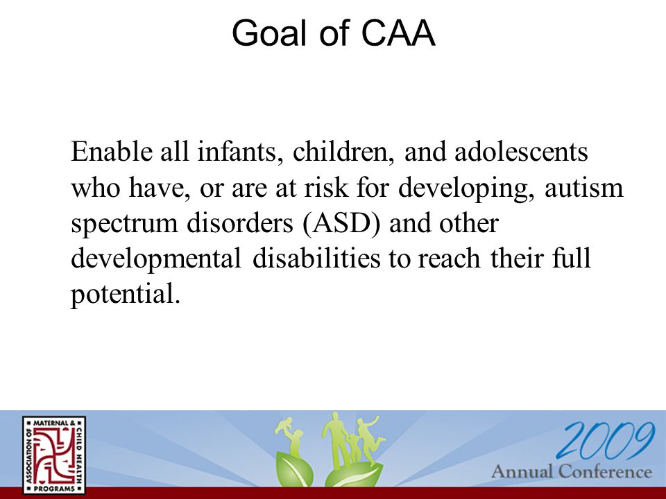 CAA Programs in 4 Areas 3.